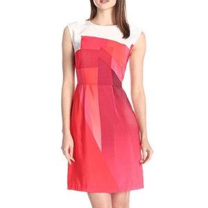 Vince Camuto Geometric Color block Dress Size 8